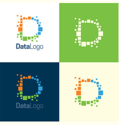 data logo d letter icon vector image