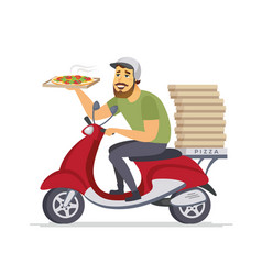 delivery man - cartoon people characters isolated vector image