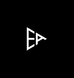 E a letter logo abstract design ea monogram vector