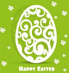 Easter egg openwork appliques postcard vector image