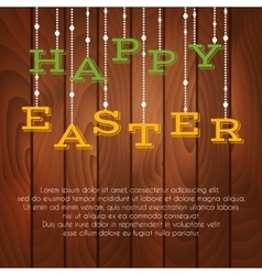 Easter greeting card with place for text vector