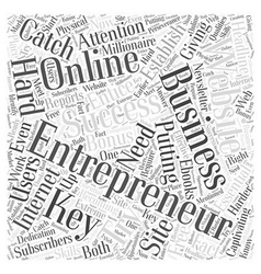 Entrepreneur website Word Cloud Concept vector