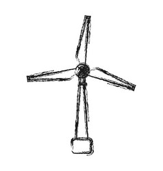 eolic turbine icon vector image