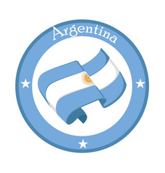 Flag of argentina on a label vector