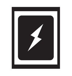 flat black battery sign icon vector image