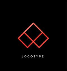 geometric shape letter aline monogram decorative vector image