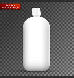glass white wine bottle vector image