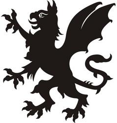 heraldic griffin vector image