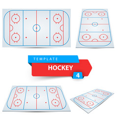 hockey court four sport template vector image