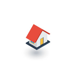 house isometric flat icon 3d vector image