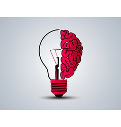 Idea brain bulb vector image