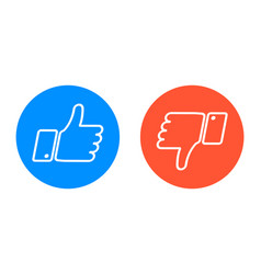 Like and dislike icons set vector