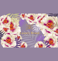 luxury card with delicate flowers vector image