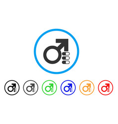 male erection pills rounded icon vector image