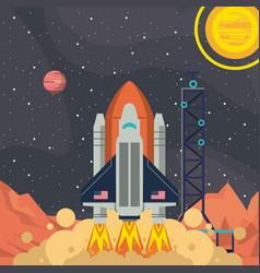 mars space adventure vector image