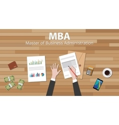 Mba master of business administration with vector