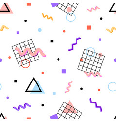 Memphis pattern 80s vector