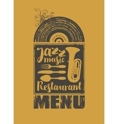 Menu for the restaurant with jazz music vector