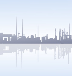 Morning Factory Skyline - vector
