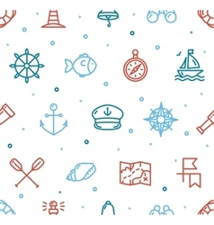 Nautical Sea Background Pattern vector image vector image