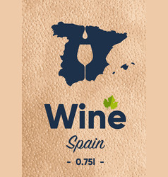 New label for a wine bottle with a map the vector
