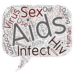 Notes on AIDS and HIV text background wordcloud vector