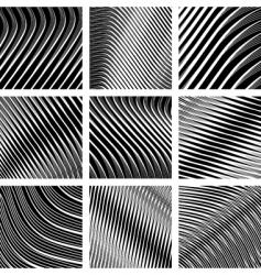 Op art backgrounds vector