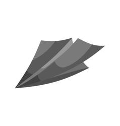 Paper plane sign icon black monochrome style vector image