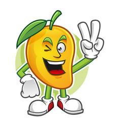 Peace mango character vector