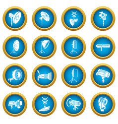 photography icons set simple style vector image