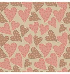 Polka dots hearts seamless pattern vector