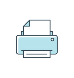 printer color line icon vector image
