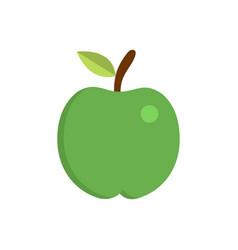pure apple icon flat apple icon vector image