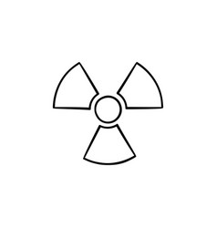radioactive sign hand drawn sketch icon vector image