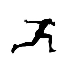 running finish line athlete runner vector image