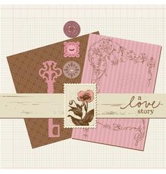 scrapbook vintage design elements vector image