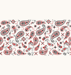 Seamless pattern based on ornament paisley bandana vector