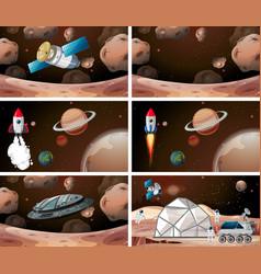 Set mars scenes vector