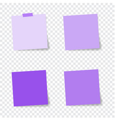 set of paper stickers with shadow on transparent vector image