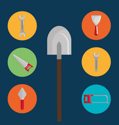 shovel with under construction equipment vector image
