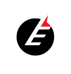 sign of the letter e vector image