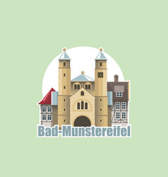 skyline bad munstereifel is an old town in western vector image