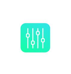 slider bar icon line art vector image