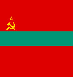 transnistria national flag vector image
