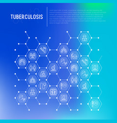 Tuberculosis concept in honeycombs vector