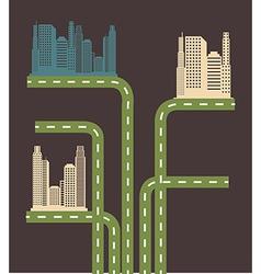 Urban city design over gray background vector