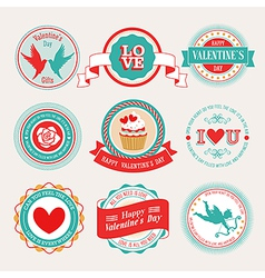 valentine labels 2 vector image