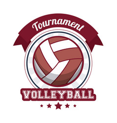 volleyball sport tournament stamp vector image