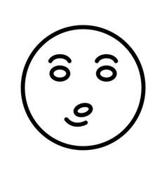 Whistle emoji icon vector