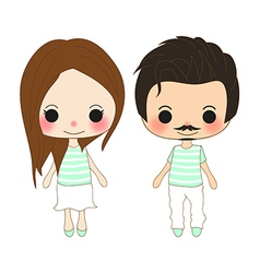 Chibi Lover Green Mint vector image vector image